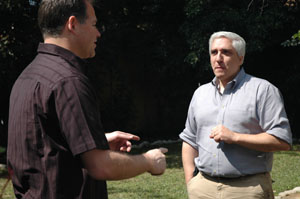 brian Dunning and Steven Novella having a skeptical discussion no doubt.