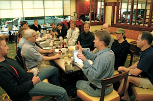 Cast and Crew during Pre-Production meeting.