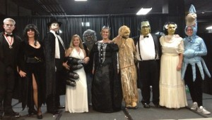 The SVP Auction Committee, this year all in costume to represent characters from Hollywood horror movies. (Photo by R. Hunt-Foster).