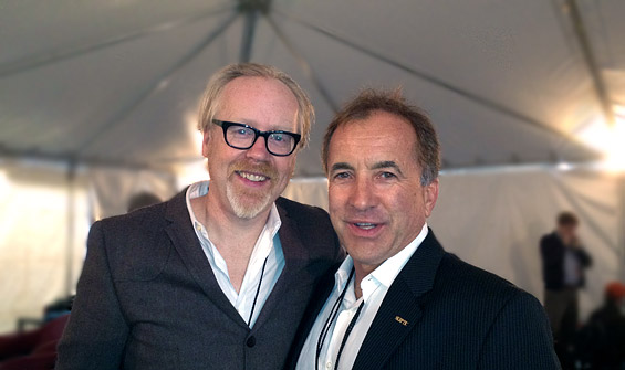 Michael Shermer and Adam Savage