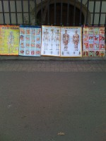 Anatomical charts for sale on the streets of Santiago. How weird is that?