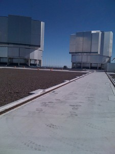 The other two 8.2 meter telescopes at ESO's Paranal observatory in Chile