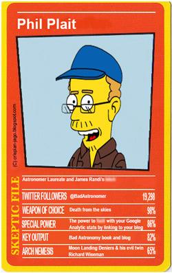 Skeptic card for Phil Plait