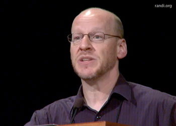 Still from Phil Plait's DBAD speech at TAM8