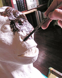 …started out as a hand-sculpted, hand-painted physical model.