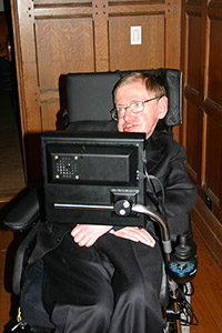 Hawking in his computer chair