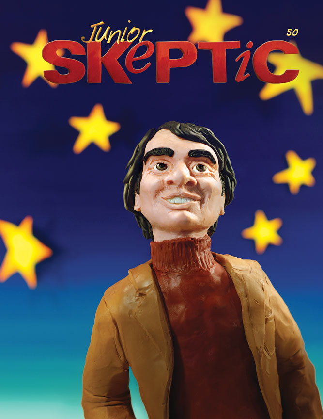 Cover of Junior Skeptic 50 (bound inside Skeptic Vol. 19, No. 1). Art by Daniel Loxton. All rights reserved.