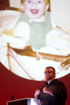 Daniel Loxton Keynote at LogiCON 2011. Photo by Marc-Julien Objois