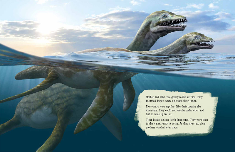Spread from Plesiosaur Peril, from Kids Can Press. Art by Daniel Loxton with Jim W.W. Smith. All rights reserved.