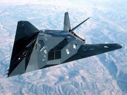 The A-117 Nighthawk stealth fighter, developed and tested in Area 51