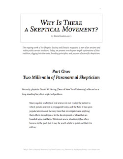 DOWNLOAD Why Is There a Skeptical Movement? (PDF)