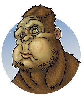 Cartoon of Ostman Sasquatch