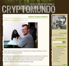 Screen capture from Cryptomundo.com