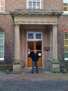 The author in front of Darwin's birthplace