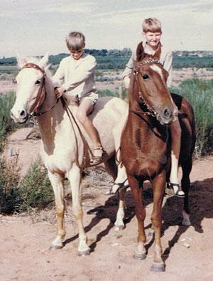 Loxton boys on horseback