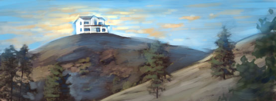 """House on the Hill"" banner image by Daniel Loxton"