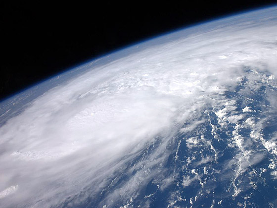 High above the Earth from aboard the International Space Station, astronaut Ron Garan snapped this image of Hurricane Irene as it passed over the Caribbean on Aug. 22, 2011.