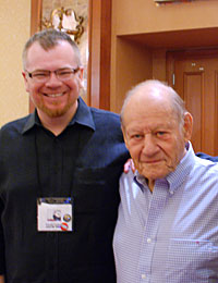 Daniel Loxton poses with Paul Kurtz at The Amazing Meeting 8 conference
