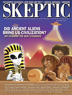 Skeptic magazine cover, Vol 18, No4