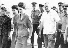 Some of the female Cosmonauts. The bonehead in the white shirt is Sergei Korolev, who led the charge to discredit the women and end their program.