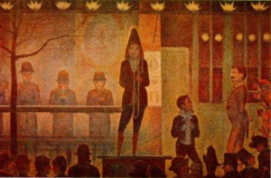 "Georges Seurat's ""The Side Show"" 1888"