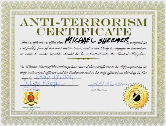 mock certificate